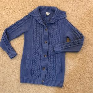 LL Bean Cable Knit Cardigan